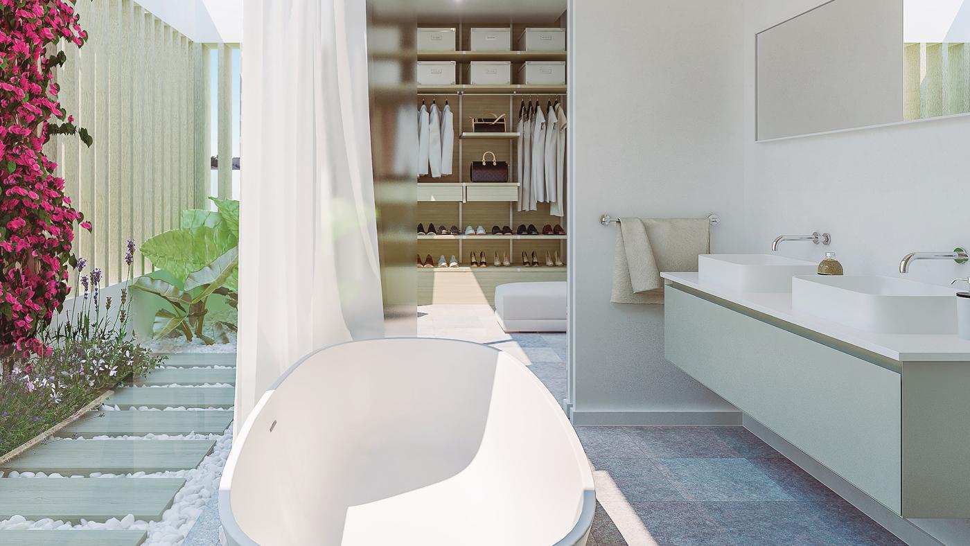 7.Bathroom-walk-in-closet-balinese exterior shower - Unico Properties
